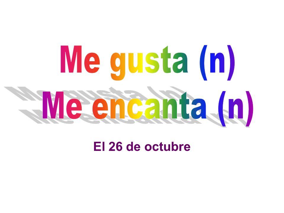 To say you like a noun.You use Me gusta or Me gustan.