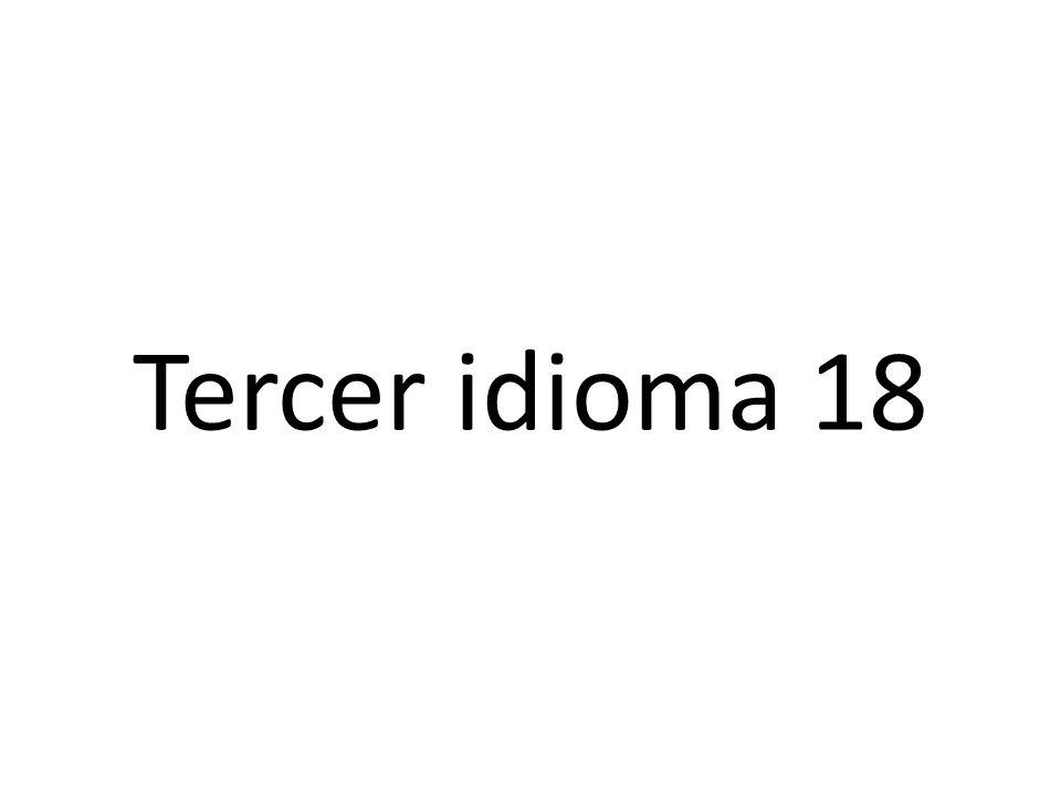 Segundo idioma 18