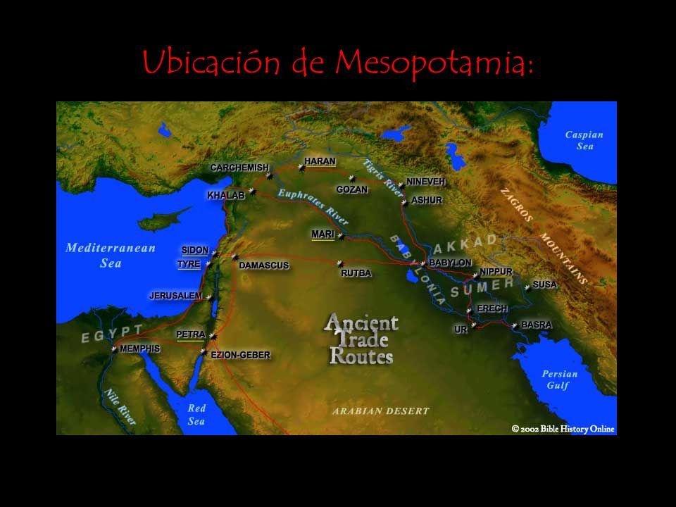 Ubicación de Mesopotamia: