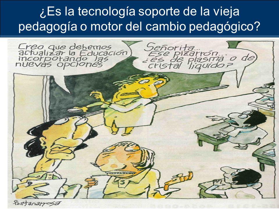 ¿Es la tecnología soporte de la vieja pedagogía o motor del cambio pedagógico