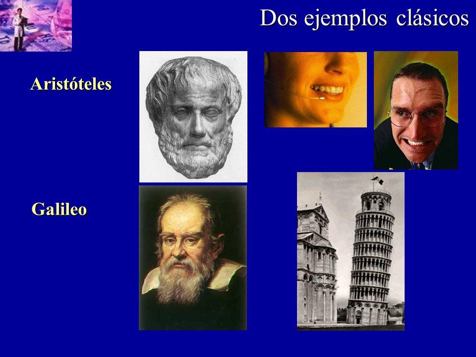 Dos ejemplos clásicos Aristóteles Galileo