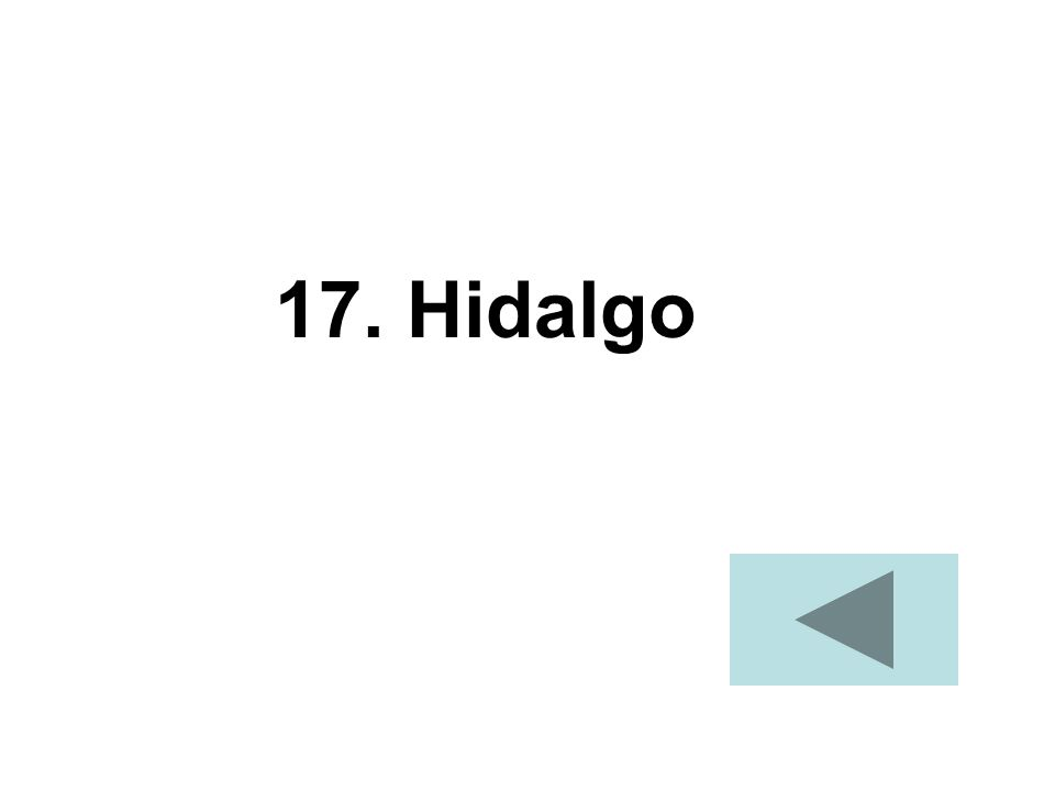 17. Hidalgo