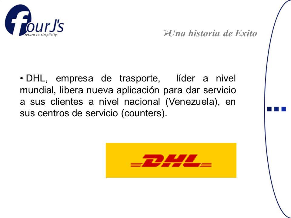 DHL, empresa de trasporte, líder a nivel mundial, libera nueva aplicación para dar servicio a sus clientes a nivel nacional (Venezuela), en sus centros de servicio (counters).