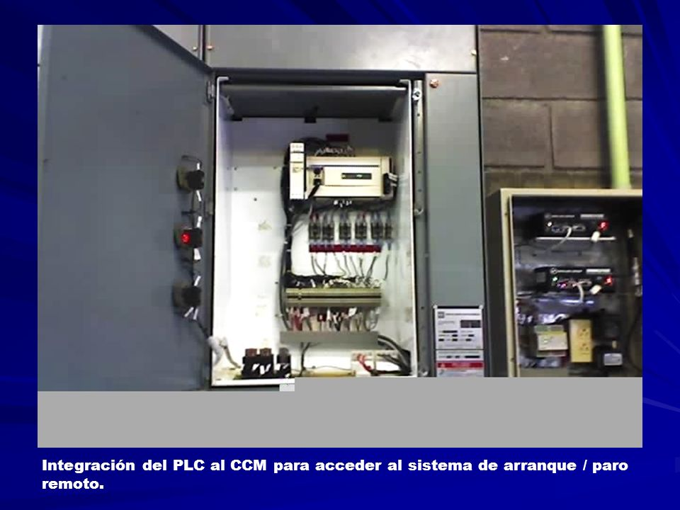 Integración del PLC al CCM para acceder al sistema de arranque / paro remoto.