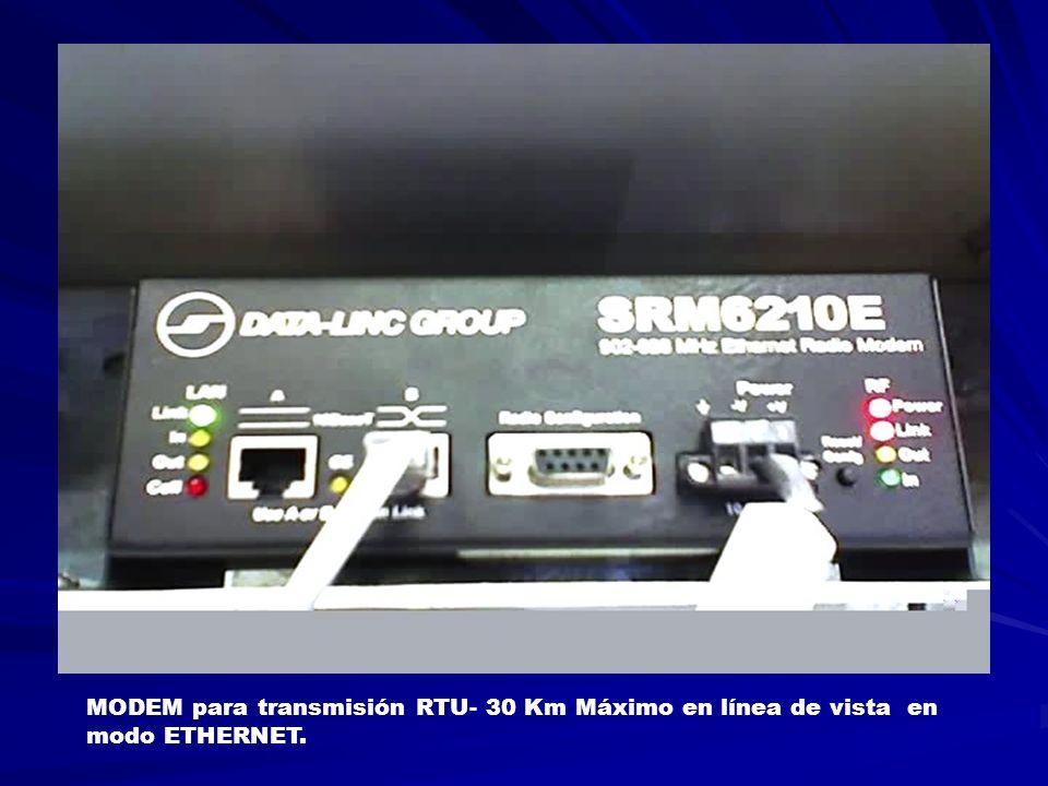 MODEM para transmisión RTU- 30 Km Máximo en línea de vista en modo ETHERNET.