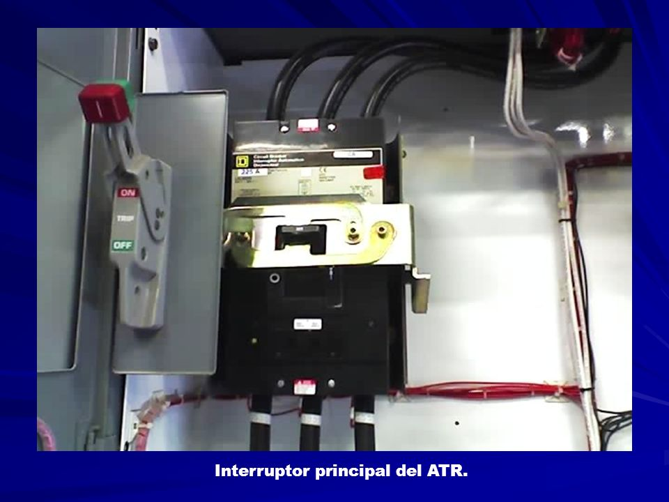 Interruptor principal del ATR.