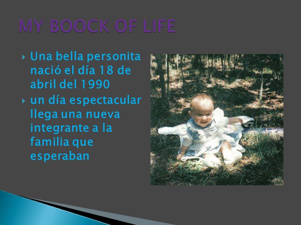 Una bella personita nació el día 18 de abril del 1990 un día espectacular llega una nueva integrante a la familia que esperaban