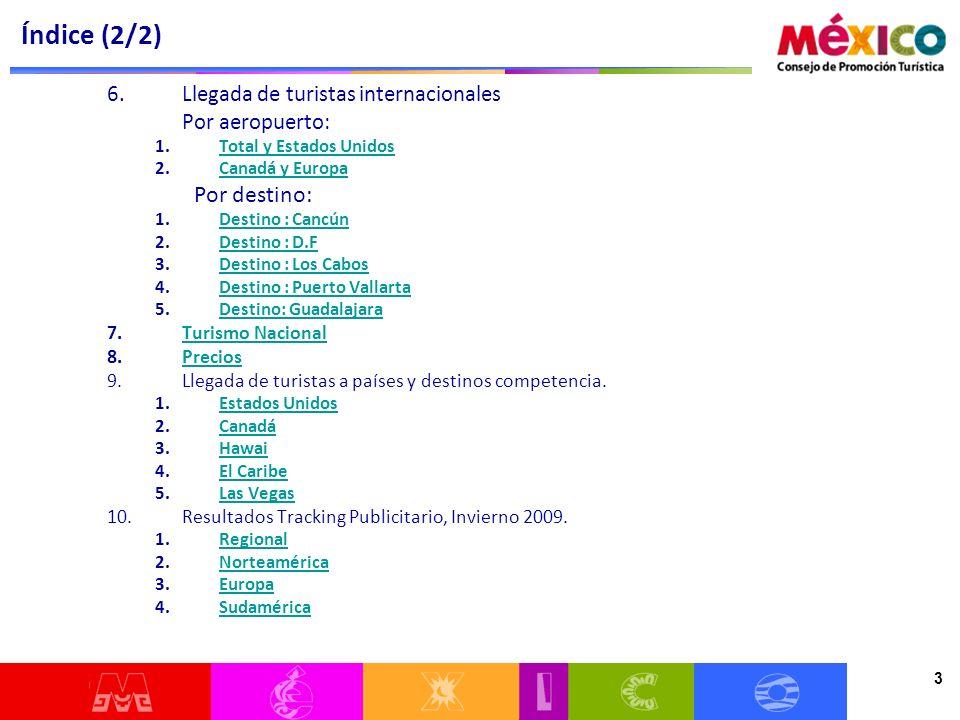 24 Las llegadas de turistas vía aérea a México han aumentado 18.8% con respecto a 2009 y 6.4% con respecto a 2008 LLEGADAS POR VÍA AÉREA DE TURISMO INTERNACIONAL 24