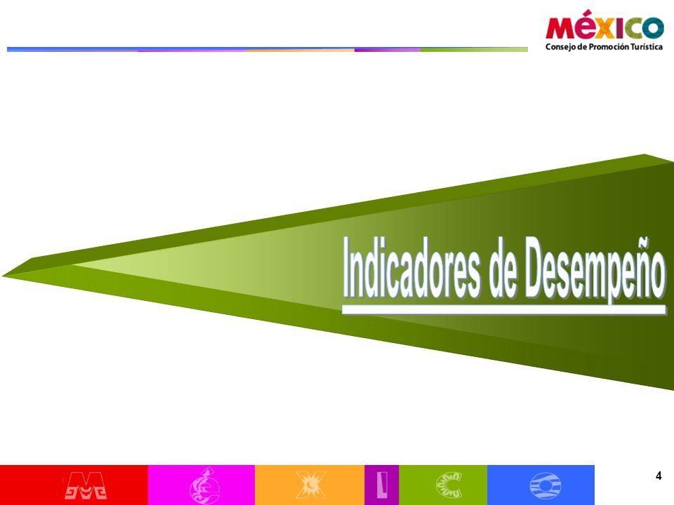 25 Las llegadas de turistas vía aérea a México han aumentado 8.8% con respecto a 2009 y 7.2% con respecto a 2008 3.
