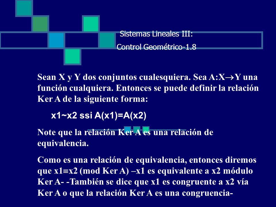Sistemas Lineales III: Control Geométrico-1.8 Sean X y Y dos conjuntos cualesquiera. Sea A:X Y una función cualquiera. Entonces se puede definir la re