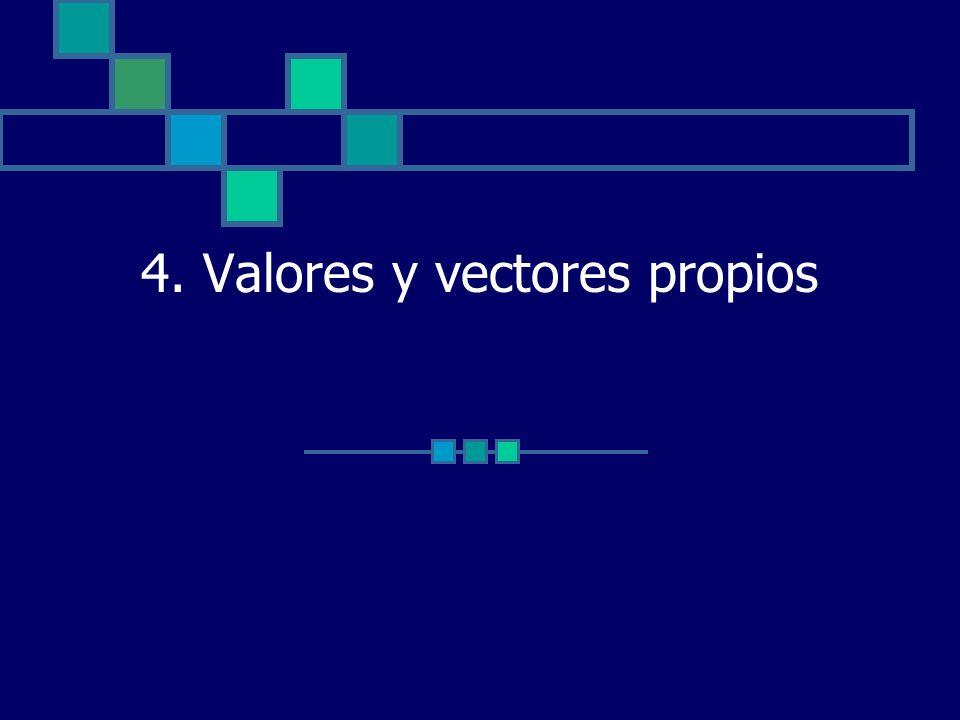 4. Valores y vectores propios