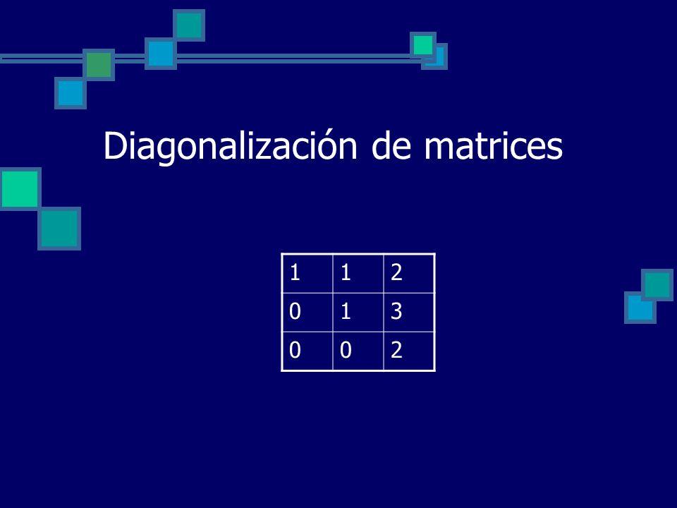 Diagonalización de matrices 112 013 002