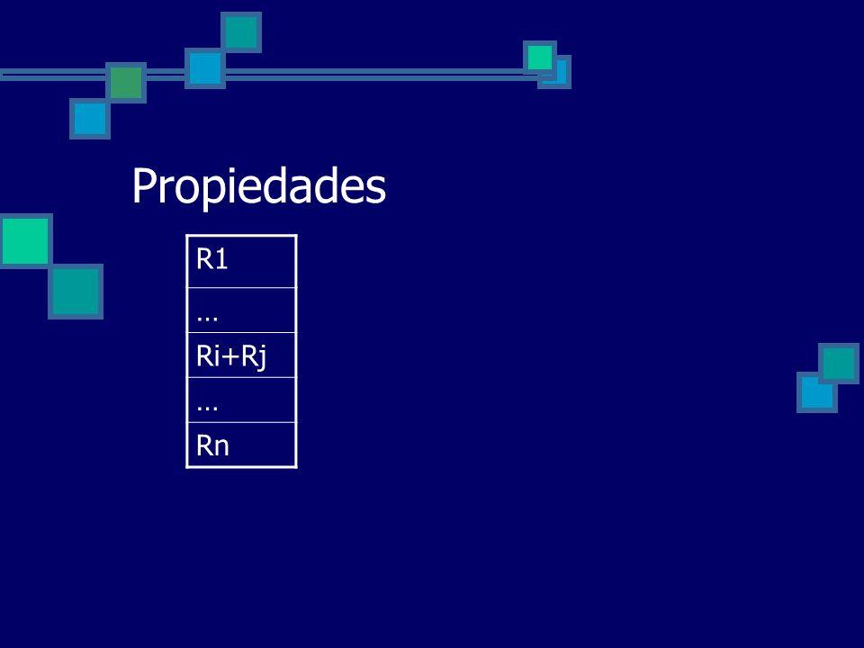 Propiedades R1 … Ri+Rj … Rn