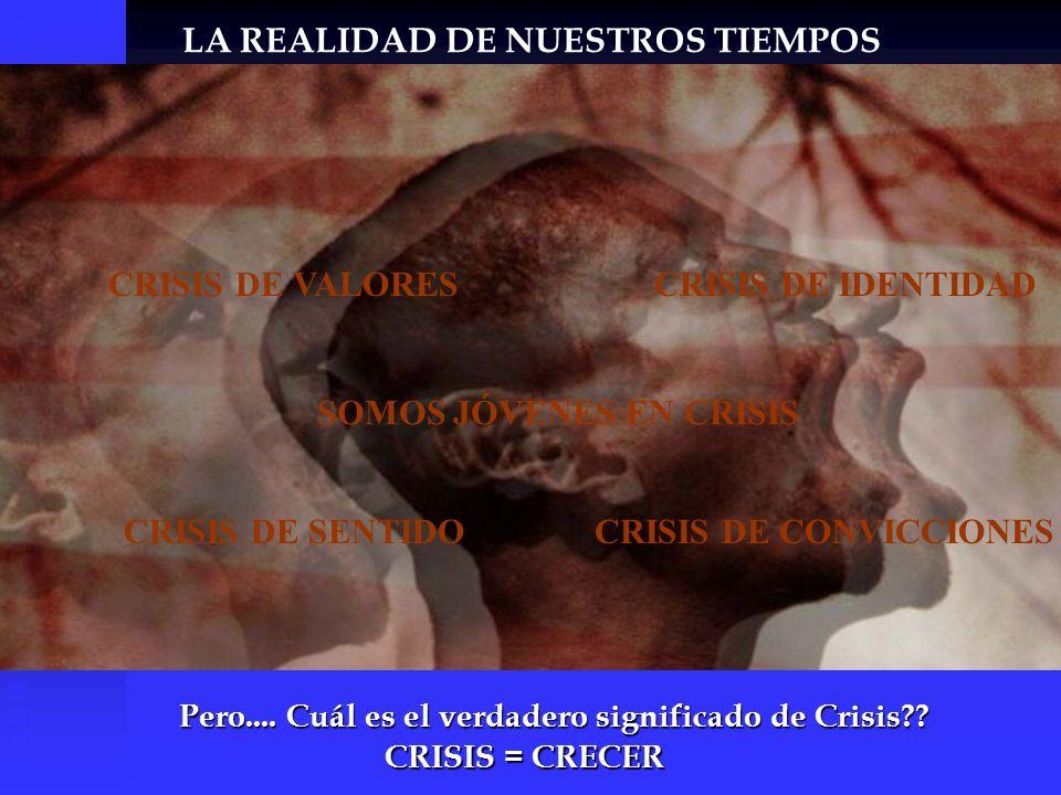 SOMOS JÓVENES EN CRISIS CRISIS DE VALORESCRISIS DE IDENTIDAD CRISIS DE SENTIDOCRISIS DE CONVICCIONES Pero.... Cuál es el verdadero significado de Cris