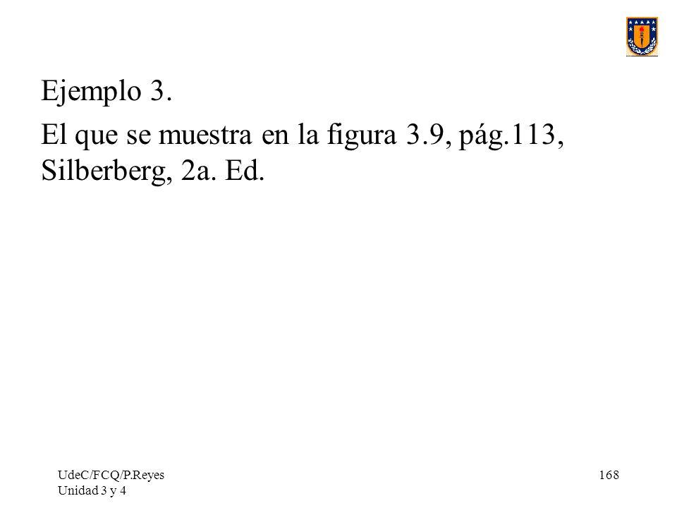 UdeC/FCQ/P.Reyes Unidad 3 y 4 168 Ejemplo 3. El que se muestra en la figura 3.9, pág.113, Silberberg, 2a. Ed.