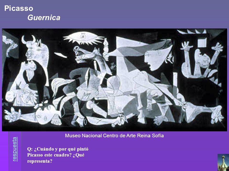 Q: ¿Cuándo y por qué pintó Picasso este cuadro? ¿Qué representa? Museo Nacional Centro de Arte Reina Sofía Picasso Guernica respuesta