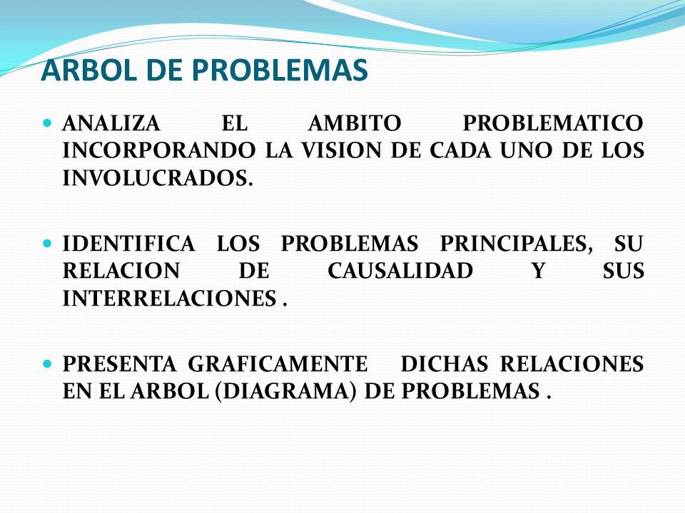 Análisis de problemas UNA TECNICA PARA : Analizar el panorama de la situación ; progresivamente se estrecha la perspectiva y se profundiza de cara al