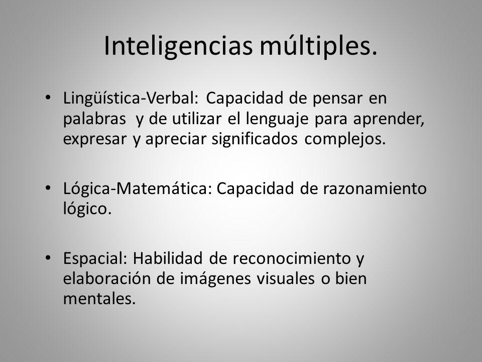 Las inteligencias múltiples.