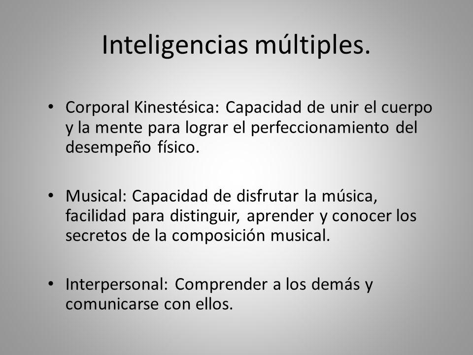 Inteligencias múltiples. Lingüística-Verbal: Capacidad de pensar en palabras y de utilizar el lenguaje para aprender, expresar y apreciar significados
