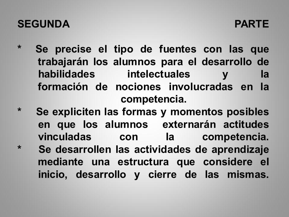 * Se establezca la correspondencia entre las competencias, los propósitos y los aprendizajes..esperados. * Se proponga una pregunta, problema o situac