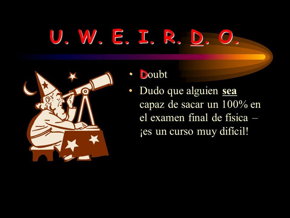 U. W. E. I. R. D. O. R egret Lo siento que tu abuela esté enferma.