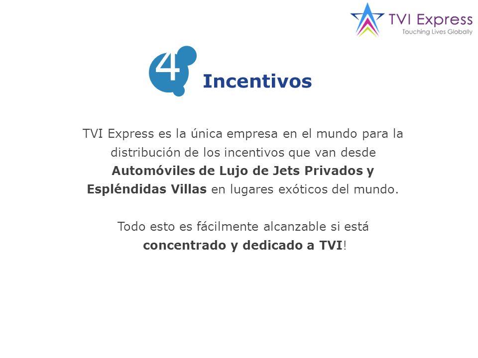 TVI Express es la única empresa en el mundo para la distribución de los incentivos que van desde Automóviles de Lujo de Jets Privados y Espléndidas Villas en lugares exóticos del mundo.