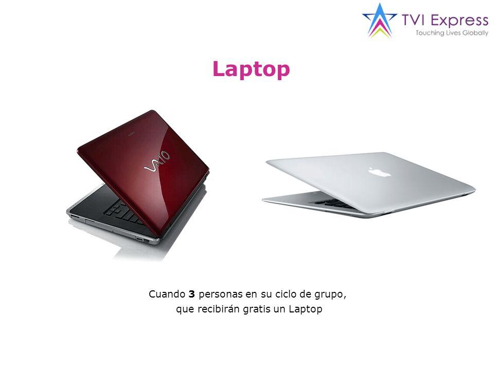 Laptop Cuando 3 personas en su ciclo de grupo, que recibirán gratis un Laptop