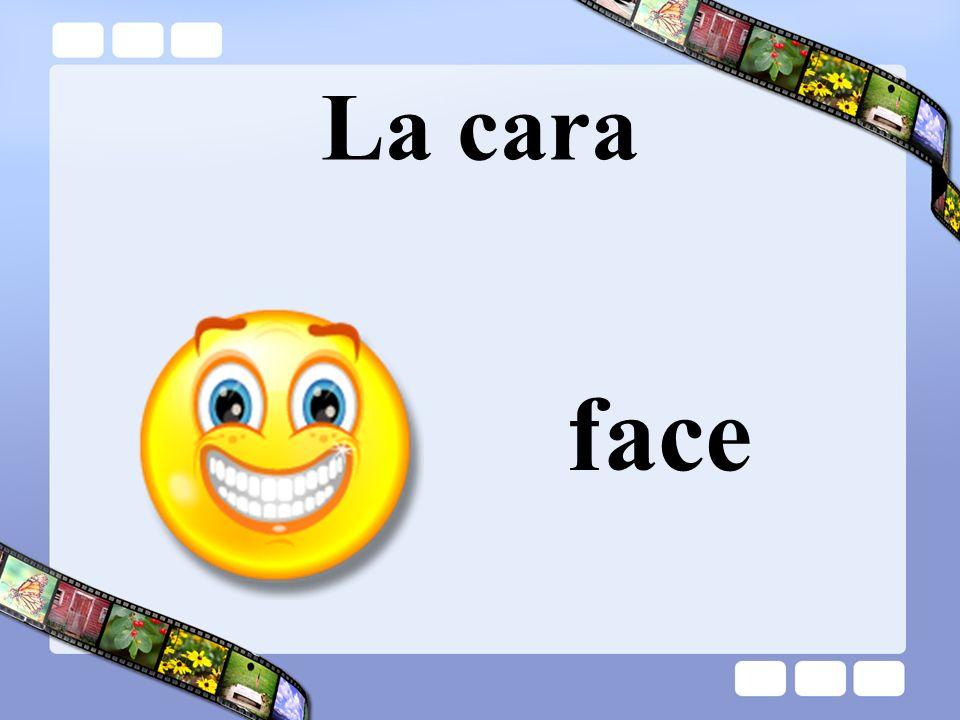 La cara » face