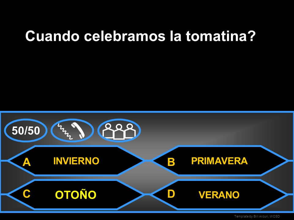 Template by Bill Arcuri, WCSD INVIERNO Cuando celebramos la tomatina.
