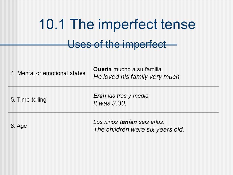 10.1 The imperfect tense ¡INTÉNTALO.Indica la forma correcta de cada verbo en el imperfecto.