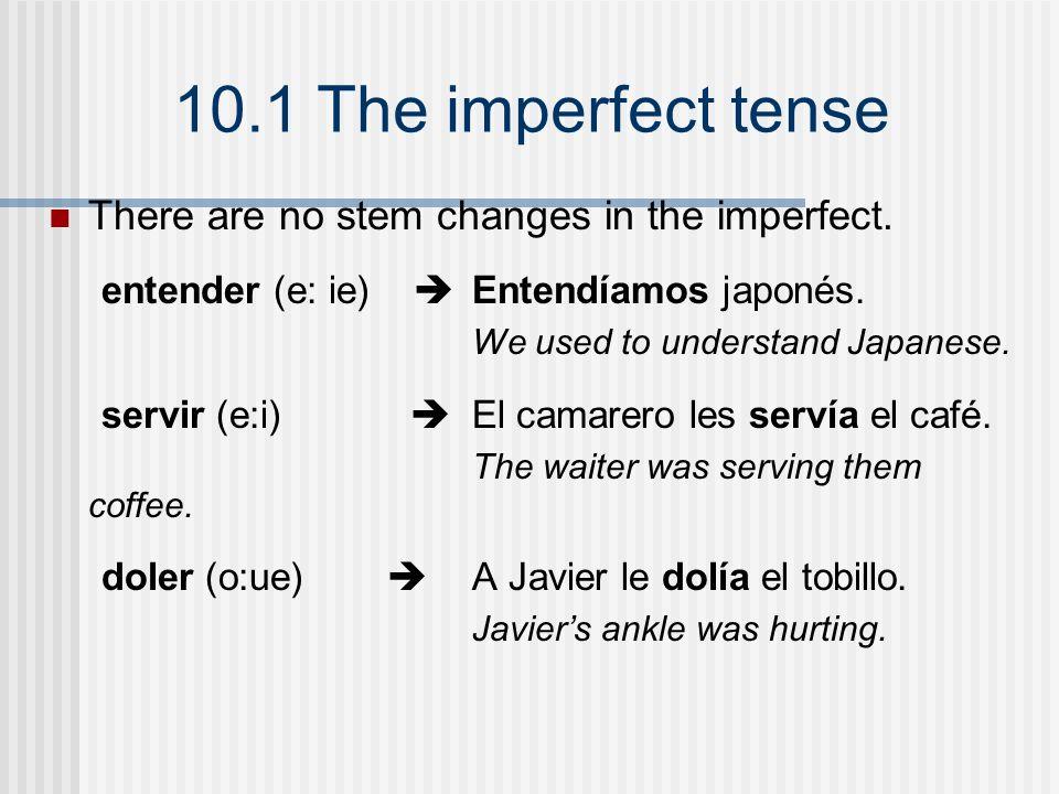 10.1 The imperfect tense ¡ATENCIÓN.