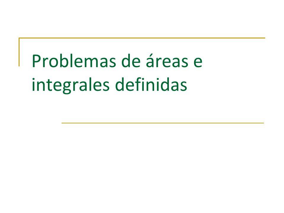 Integración/Introducción a la integración/Integral definida y cálculo de áreas/Problemas propuestos Cálculo de Áreas Consideramos el problema de determinar el área encerrada por la gráfica de la función f(x)= x 2, el eje X y las rectas x=0 y x=1.