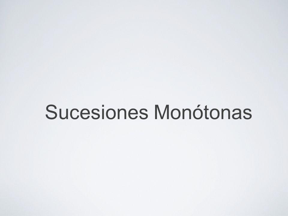 The Real Number System/Sequences of Real Numbers/Monotonic Sequences by Mika Seppälä Sucesiones Monótonas Definición Una sucesión (a 1,a 2,a 3,…) es decreciente si a n+1 a n para todo n.