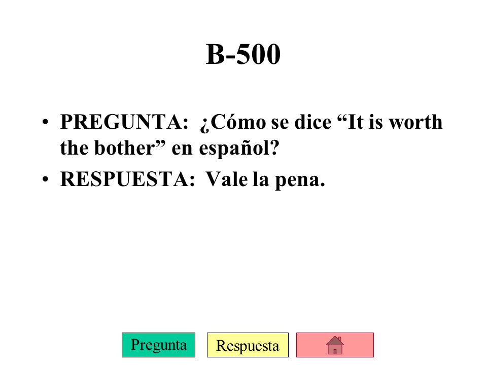 Respuesta Pregunta B-400 PREGUNTA: Name one reason for which you do not use the subjunctive with impersonal expressions.