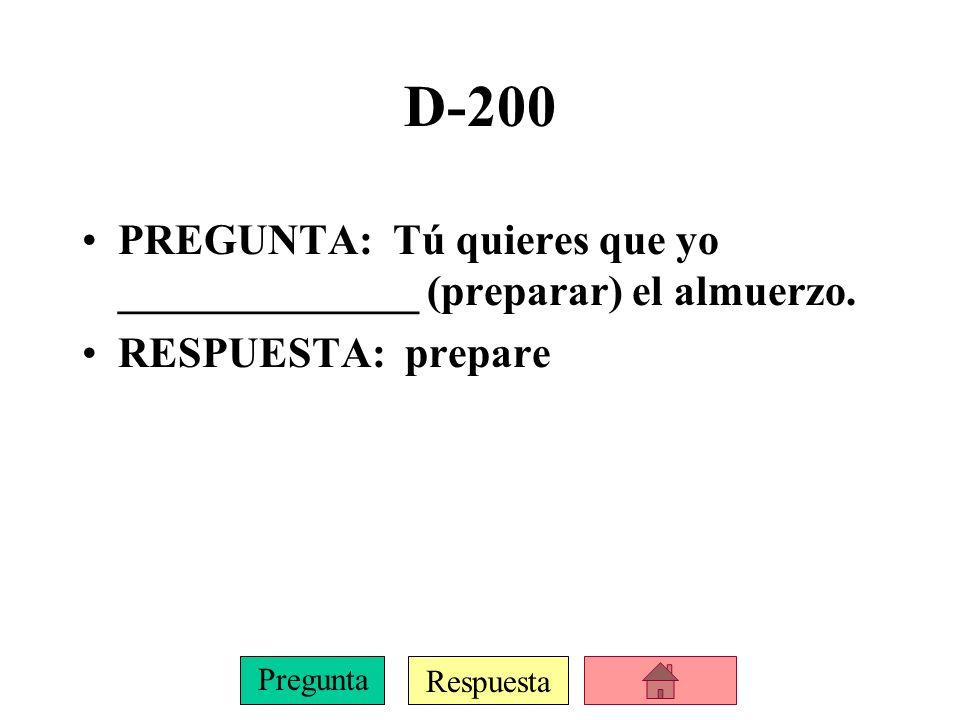 Respuesta Pregunta D-100 PREGUNTA: Juan necesita _______________ (comprar) zapatos nuevos.