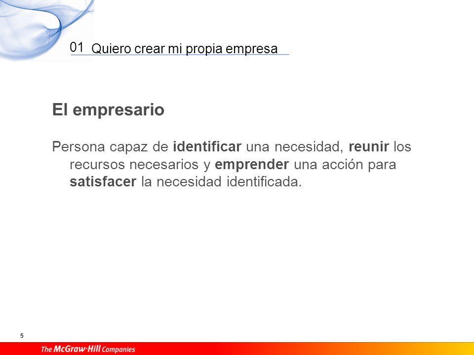 Quiero crear mi propia empresa 6 01 El empresario Ventajas Ser tu propio jefe.