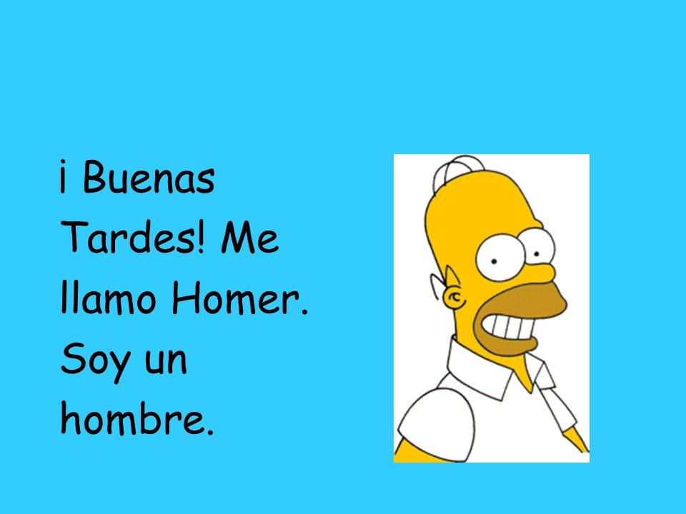 ¡ Buenas Tardes! Me llamo Homer. Soy un hombre.