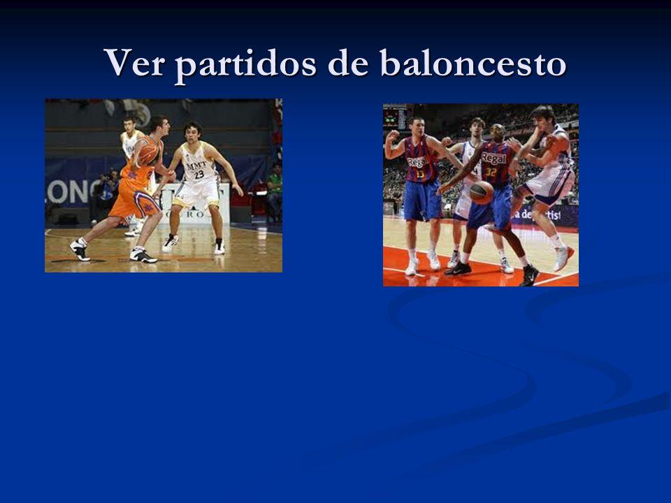 Ver partidos de baloncesto