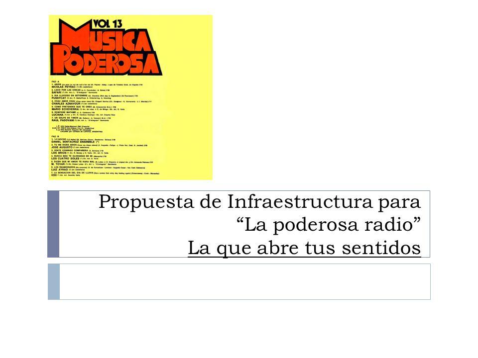 Propuesta de Infraestructura para La poderosa radio La que abre tus sentidos