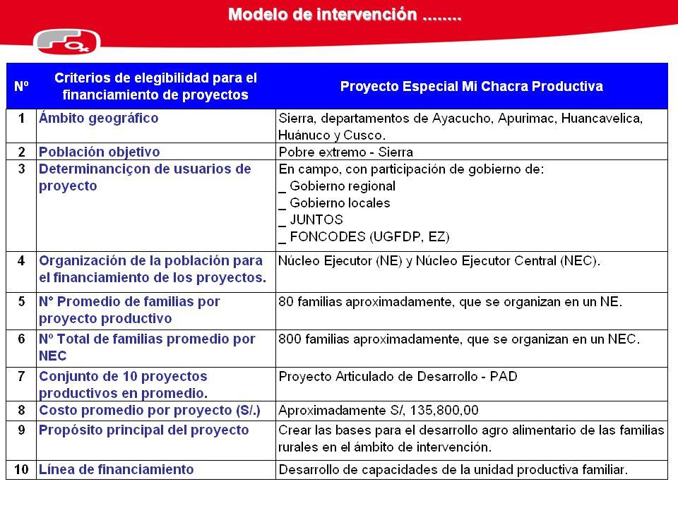 Modelo de intervención........