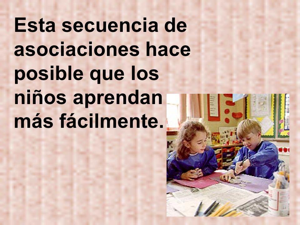 Esta secuencia de asociaciones hace posible que los niños aprendan más fácilmente.