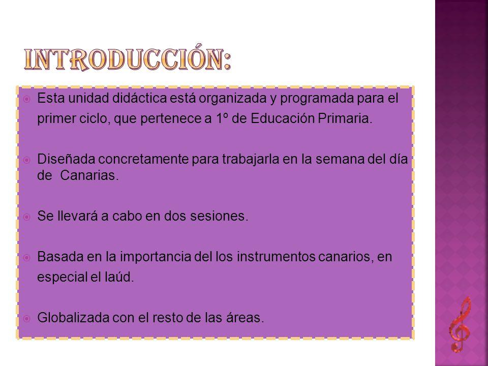 Esta unidad didáctica está organizada y programada para el primer ciclo, que pertenece a 1º de Educación Primaria. Diseñada concretamente para trabaja