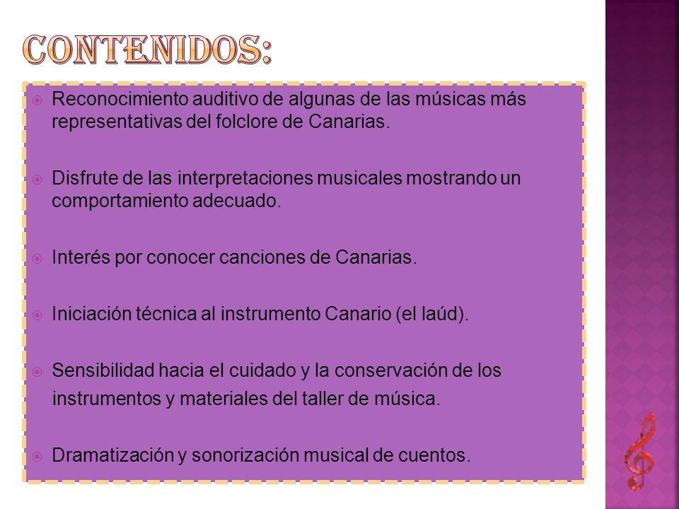 Reconocimiento auditivo de algunas de las músicas más representativas del folclore de Canarias. Disfrute de las interpretaciones musicales mostrando u