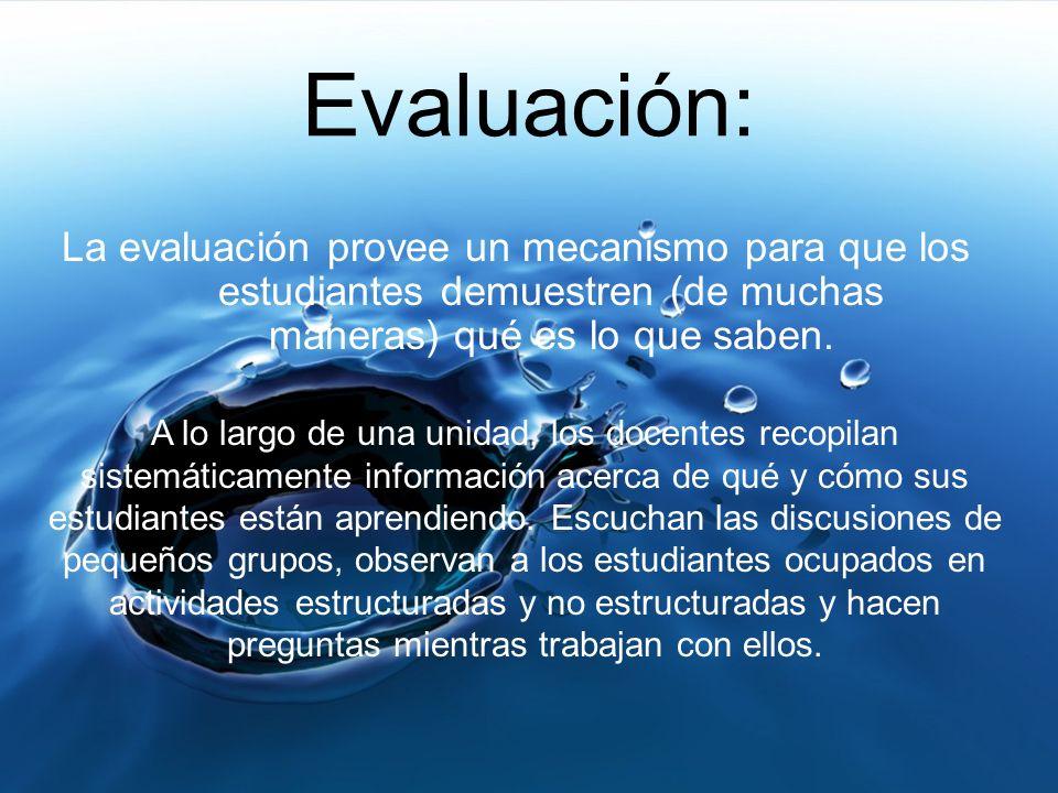 Tipos de Evaluación: Evaluaciones Formativas Evaluaciones Continuas Evaluaciones Sumativas