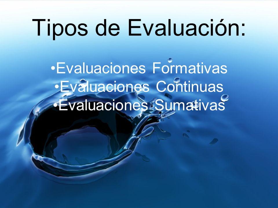 ¿Cuál es el propósito de una evaluación.