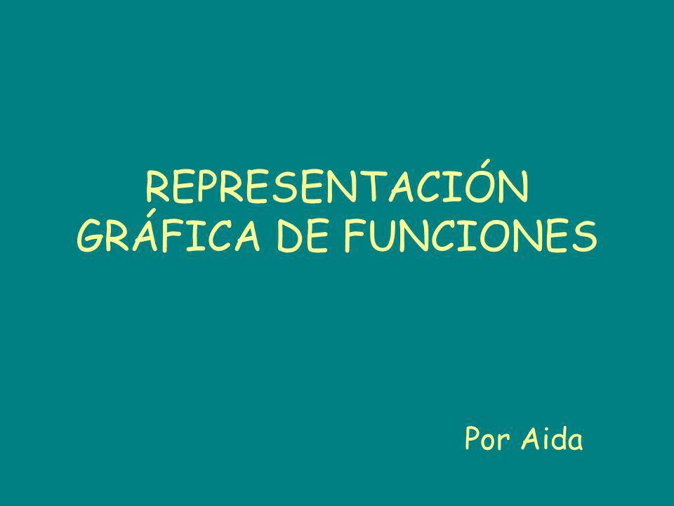 REPRESENTACIÓN GRÁFICA DE FUNCIONES Por Aida