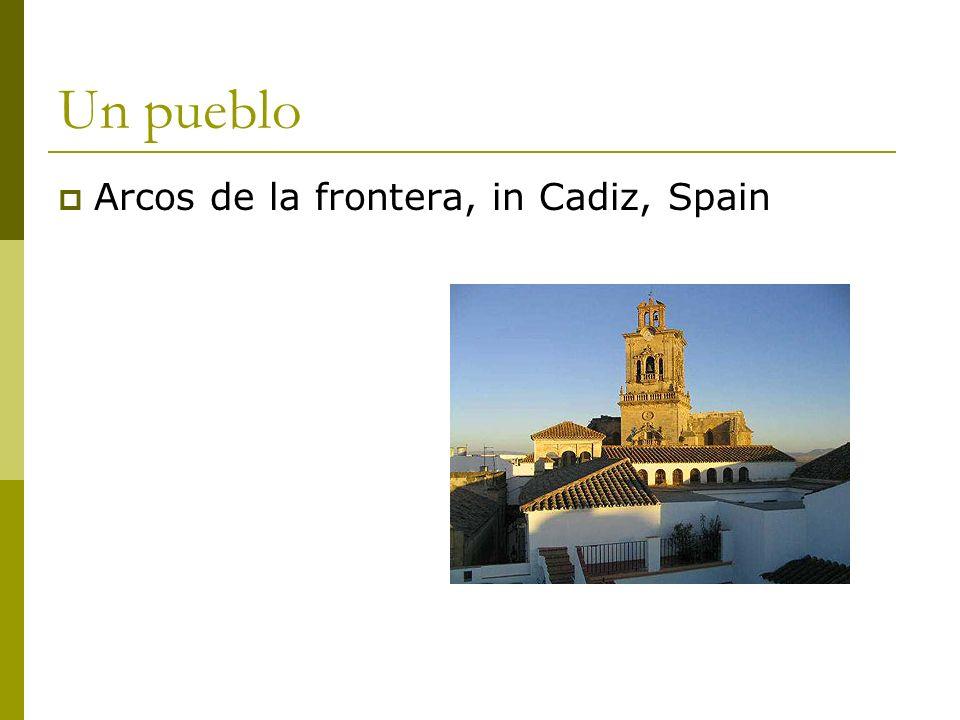 Un pueblo Arcos de la frontera, in Cadiz, Spain