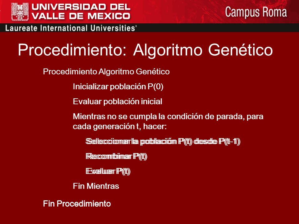 Los AG simulan el proceso evolutivo darwiniano y naturalmente utilizan operadores genéticos sobre los cromosomas. No hay una uniformidad en el terreno