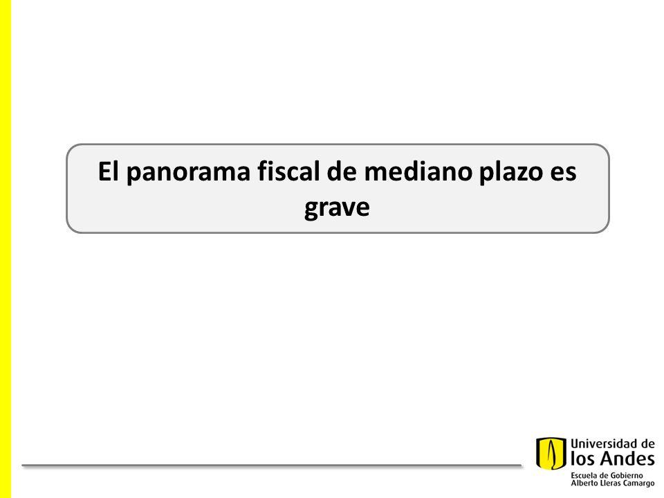 El panorama fiscal de mediano plazo es grave