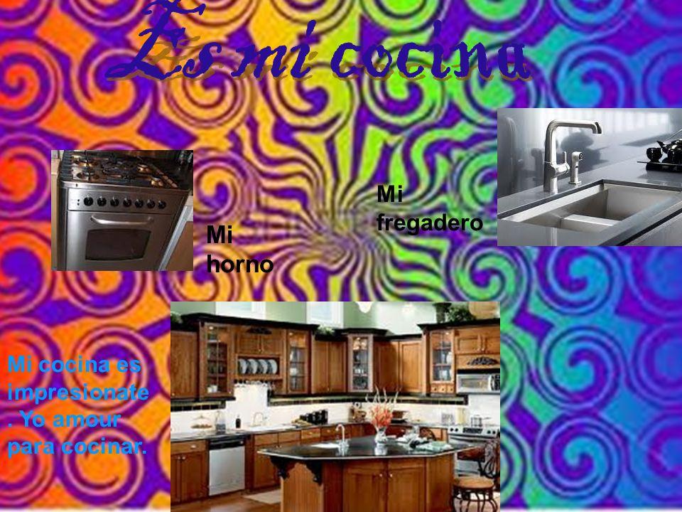 Mi horno Mi fregadero Mi cocina es impresionate. Yo amour para cocinar.